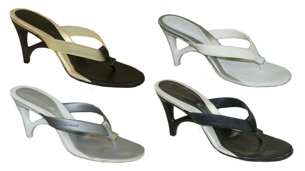 Hogan Nuovo Sleek Pantofole Infradito Muli Bella Presentazione Seali Vendita