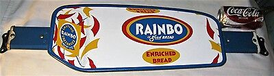 ANTIQUE AMERICAN USA RAINBO BREAD COUNTRY BAKERY FOOD STORE DOOR PUSH ART SIGN