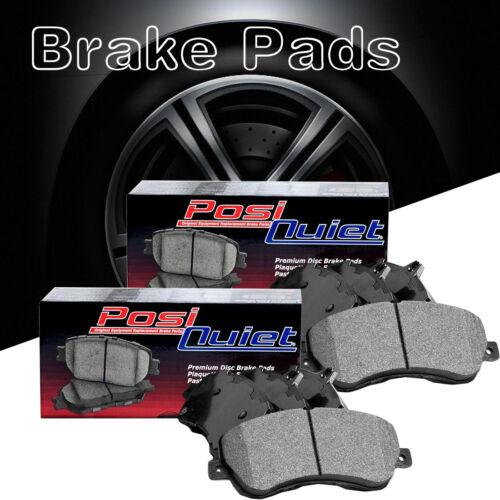 Front Rear Posi-Quiet Metallic Brake Pads 2Set For 2010-2016 Porsche Panamera