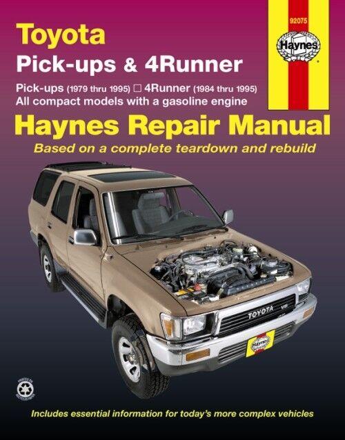 toyota 4runner 1984 1995 haynes usa workshop manual for sale online ebay ebay