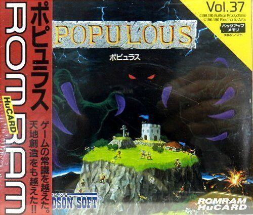 NEW Populous PC Engine Hu Card HuCard PCE TurboGrafx-16 w/Tracking# form JAPAN