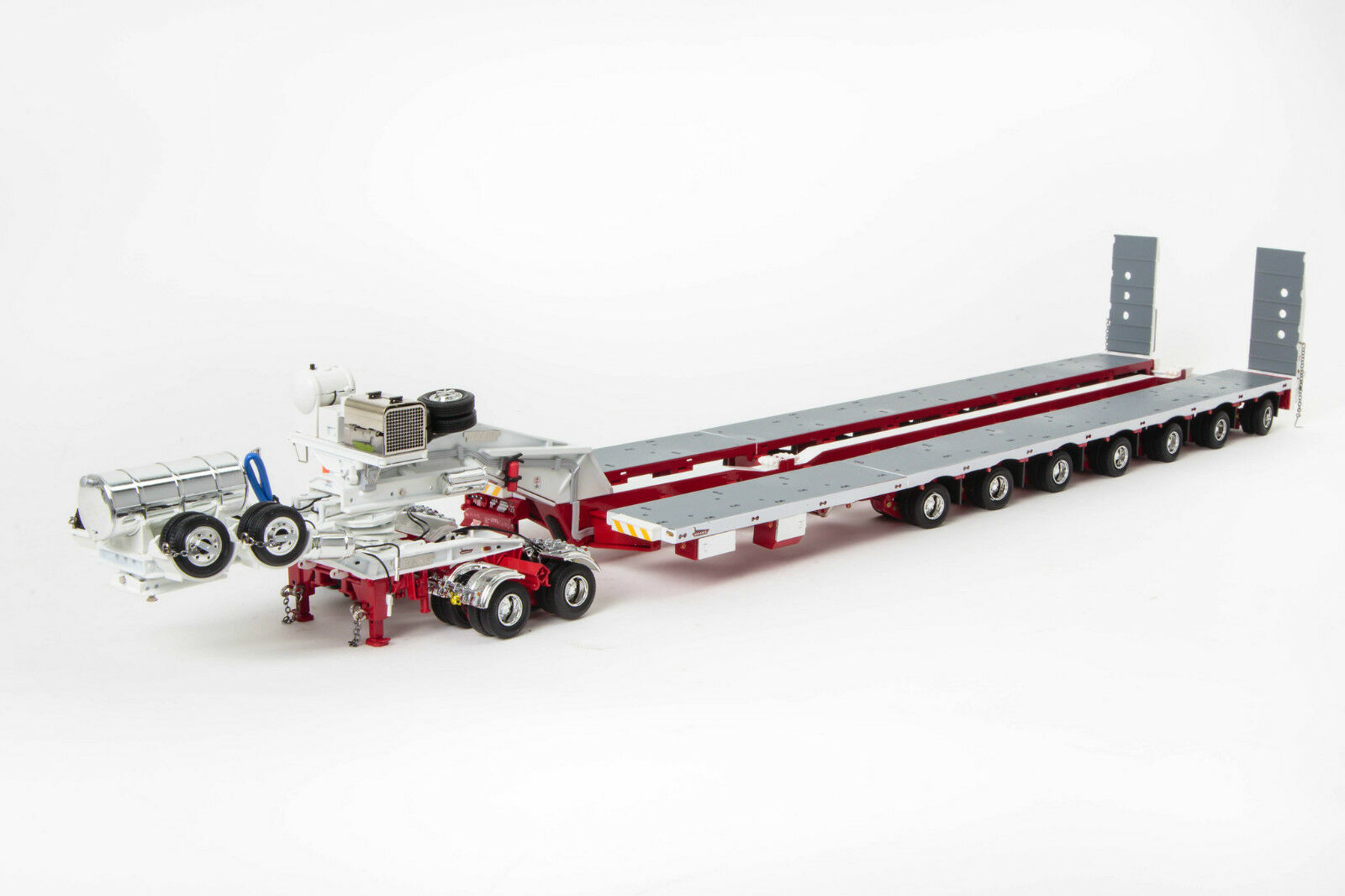 DRAKE 7x8 STEERABLE TRAILER with 2x8 DOLLY - WHITE RED - LATEST RELEASE