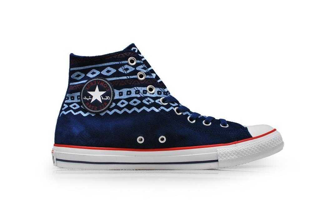 Zapatos promocionales para hombres y mujeres Converse Chuck Taylor Unisex Victorian Blue Hi Top Suede Limited Edition
