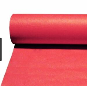 223 & Details about (RED) TABLE COVERS/CLOTHS/Paper/Banqueting/Banquet Roll/Rolls/Coloured Embossed
