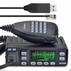 Leixen-VV-898-Dual-Band-VHF-UHF-10W-Car-Truck-Mobile-Transceiver-PC-Cable