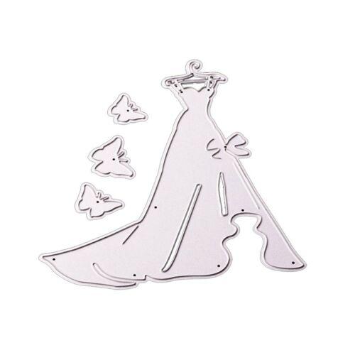 LADY Nozze Abito Sposa taglio in metallo muore Scrapbooking LAVORI di carta decorazione fai da te
