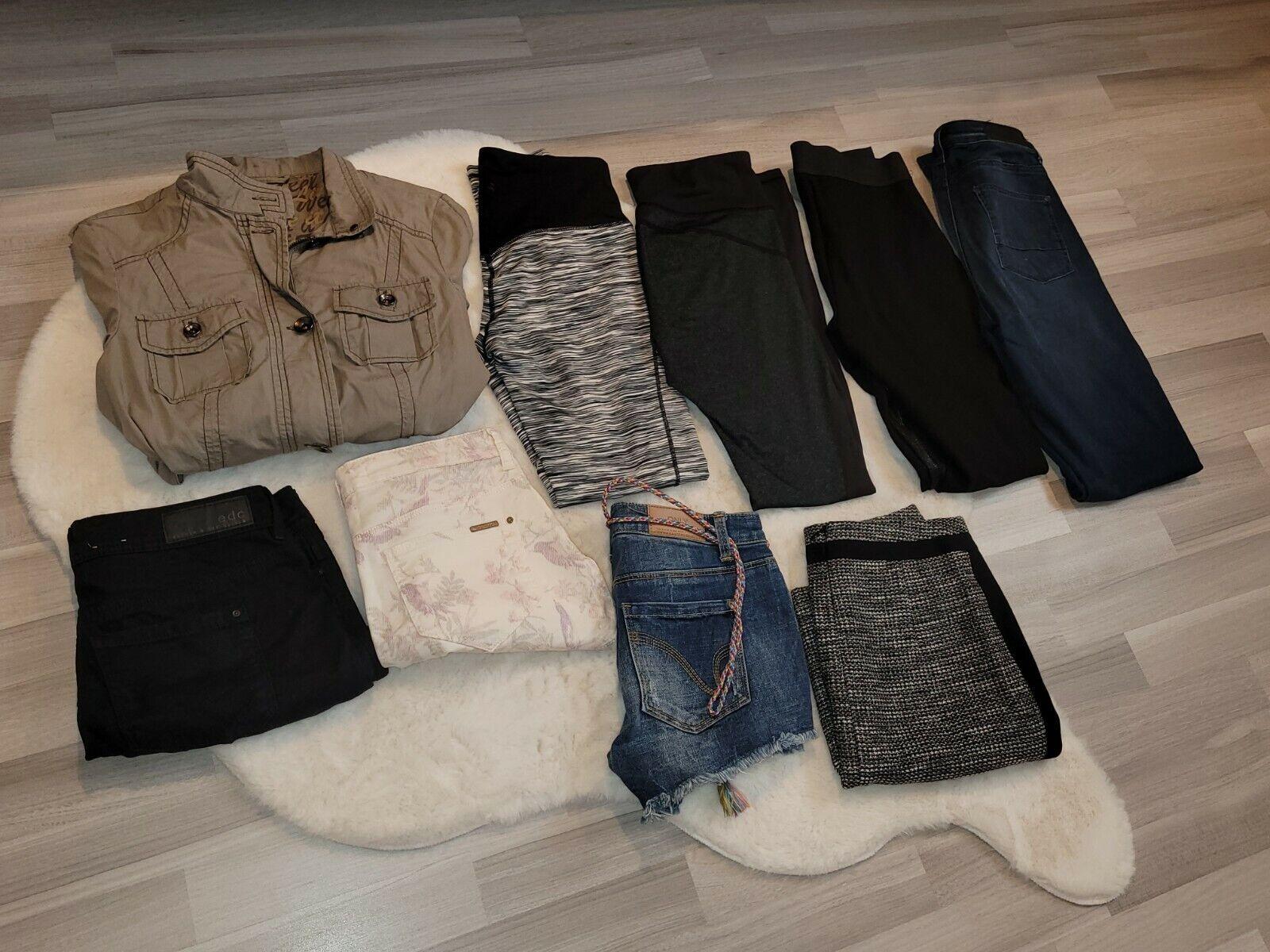 ❤ WIE NEU ❤ 9-teiliges Paket Gr. XS 34 Jeans Röcke Shorts Sporttights Esprit H&M