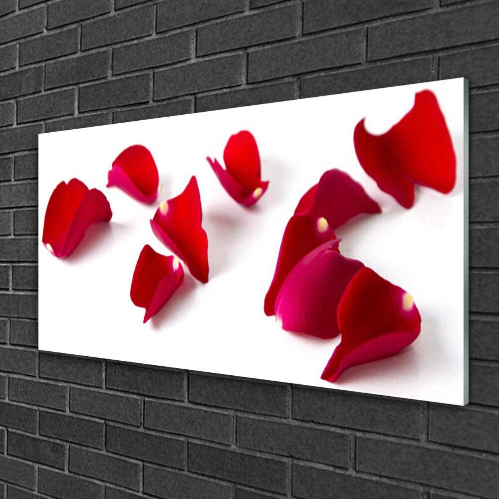 Tableau sur verre Image Impression 100x50 Floral Pétales