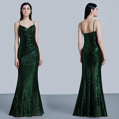Ever-pretty Long Strappy Sequins Deep V-neck Ball Prom Gowns Party Dresses 07339 FüR Schnellen Versand