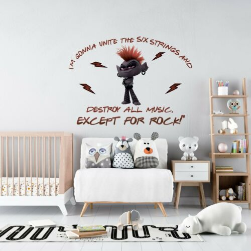 I/'m Gonna Destroy All Music Except For RockQueen Barb Trolls Quote Wall Decal