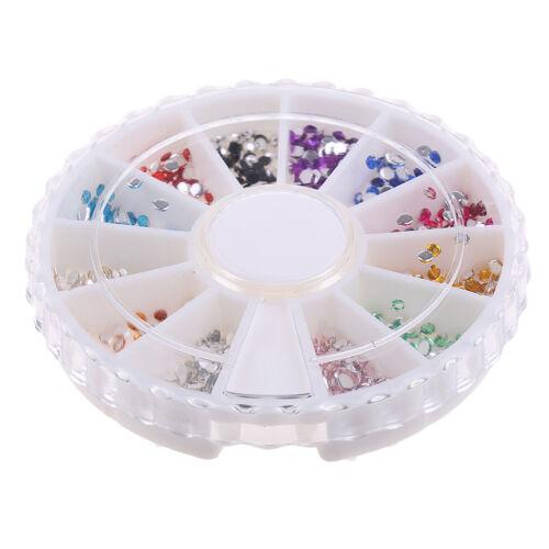 12 Farben Nail Art Metall Verzierungen Halb Perlen für Nail Art Handwerk