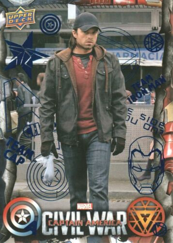 2016 Upper Deck Marvel Captain America Civil War Blue Foil Parallel Card #44