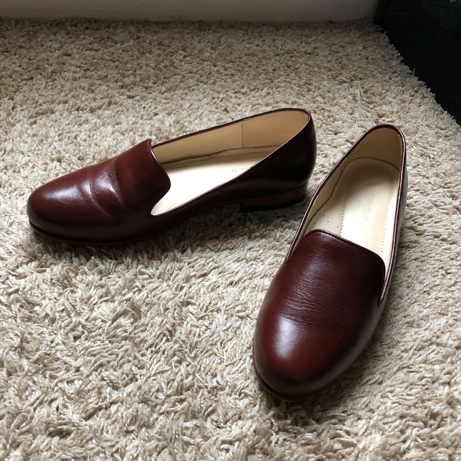 Nisolo Womens Classic Smoking shoes Size Size Size 8.5 Brown Leather Slip On 4a9066