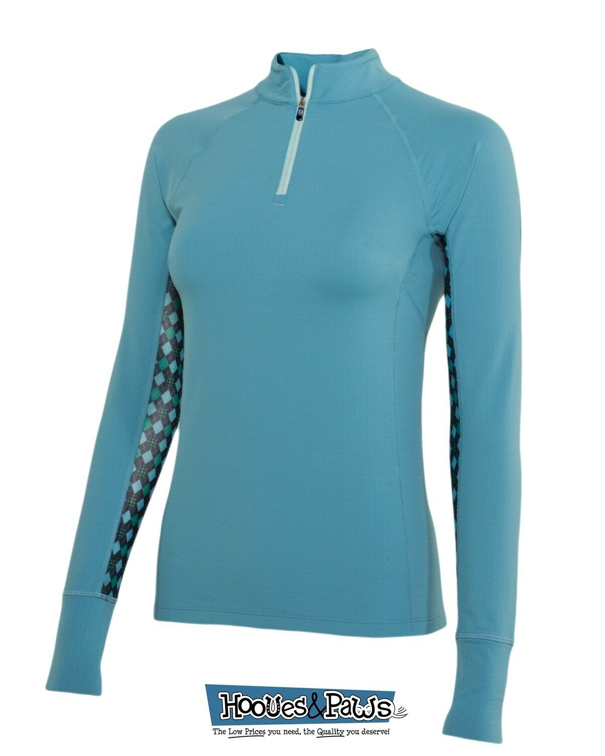 Noble Outfitters Ashley Performance Long Sleeve Riding Shirt Dutchess bluee