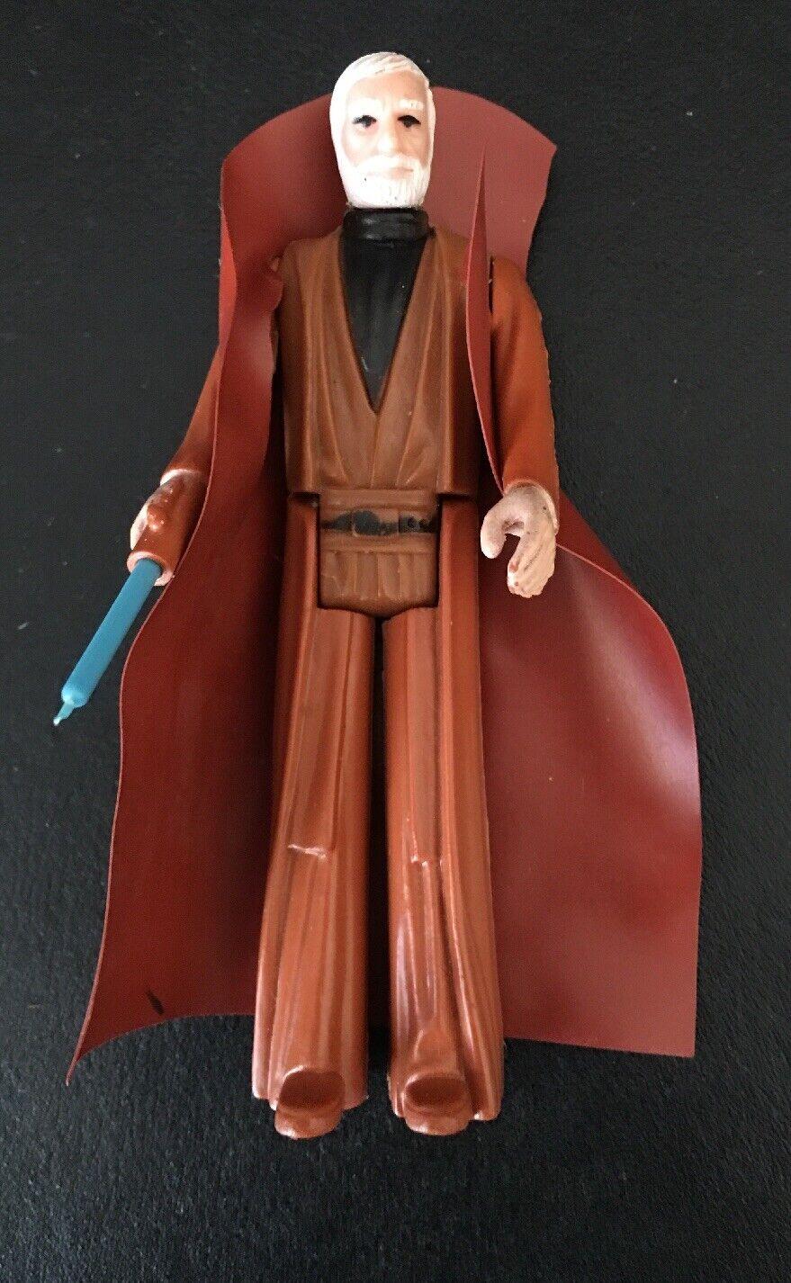 Vintage Star Wars Action figure OBI WAN KENOBI (blueE) 1977 GMF Made In Hong Kong