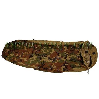 Woodland Camo,Used US Military Genuine Issue GI Modular Sleep System Bivy Cover