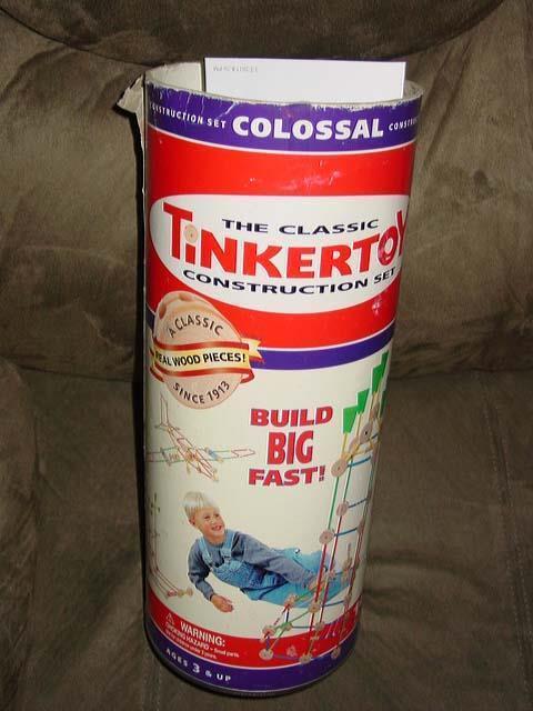 El clásico Juego de construcción Tinker Juguete colosal-Tamaño Grande  142 Piezas de Madera Real