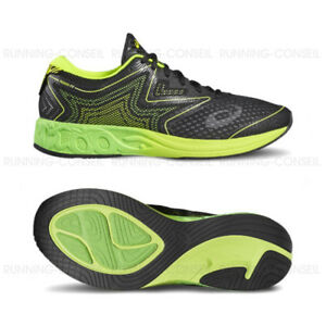 ASICS Noosa FF BLACK GREEN GECKO Safety Yellow Scarpe Da Corsa Nero Verde Giallo Neon