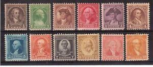 USA-1932-MINT-NH-SET-704-715-WASHINGTON-BICENTENNIAL-ISSUE-D3