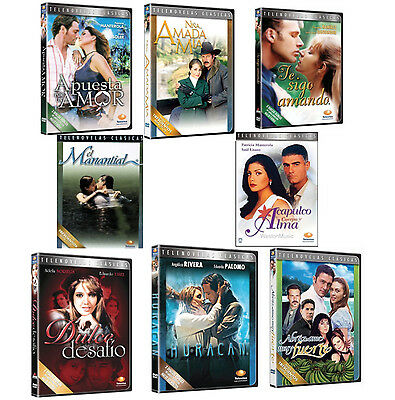 8 Different NEW DVD Boxsets * Spanish TELENOVELAS *New Sealed Novelas * USA Made
