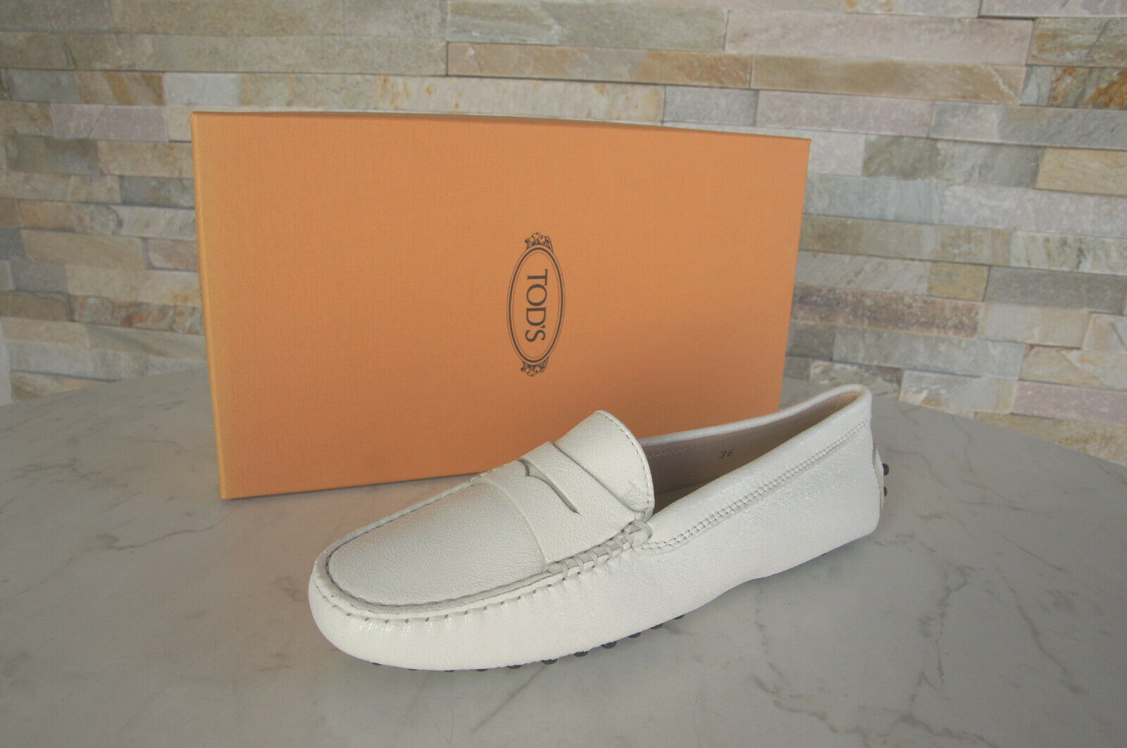 Tod Tod S 36  Slippers Moccasins Lofers Low scarpe bianca scarpe New Ehemuvp  promozioni di squadra