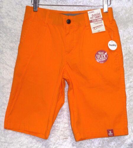 Arizona Flex Chino Shorts Classic Fit Solid Boys 8H 12 12H 14 16 20H NEW