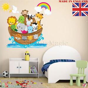 Noah-039-s-Ark-Wall-Stickers-for-Nursery-Vinyl-Decal-Mural-Art-Kids-Baby-Bedroom