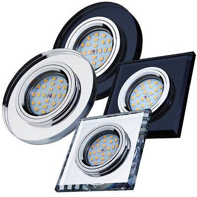 Glas Einbau-strahler verspiegelt LED Einbau-leuchte Spot eckig rund DIANOND