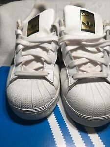 sports shoes da8e5 8eee9 Details about Adidas Superstar Foundation J C77154 Junior White / Black  Shoes 5 1/2