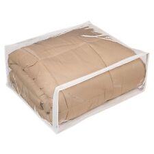 "24 Clear Plastic Vinyl Storage Bags Zippered 18"" x 22"" x 7.5"" New"