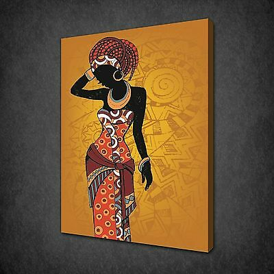 ABSTRACT AFRICAN BEAUTIFUL WOMEN CANVAS PRINT MANY SIZES FREE UK P/&P AF086
