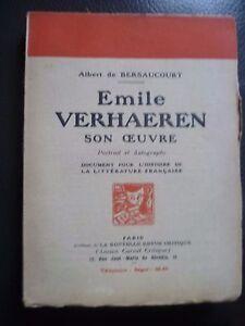 A. Bersaucourt Emile Varhaeren Soon Maestra Académico Foro N. R.c 1924 París