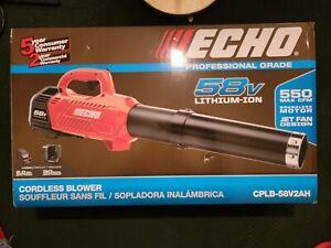 Echo CPLB-58V2AH 58V 550 CFM Cordless Brushless Turbo Hand Held Blower Kit