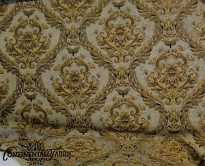 Chenille-Renaissance-damask-Home-Decor-Upholstery-Green-Sold-By-Yard-58-034