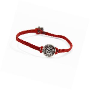 "8/"" Men/'s Macrame Bracelet avec Safe Keeper Solomon Seal en Argent-DURABLE"
