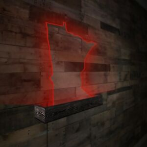Details about Modern Lexan/Plexiglass & Wood Wall Art with LED Color  Changing Lights MN States