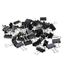 48Pcs 25mm Black Metal Binder Clips File Paper Clip Office Supplies
