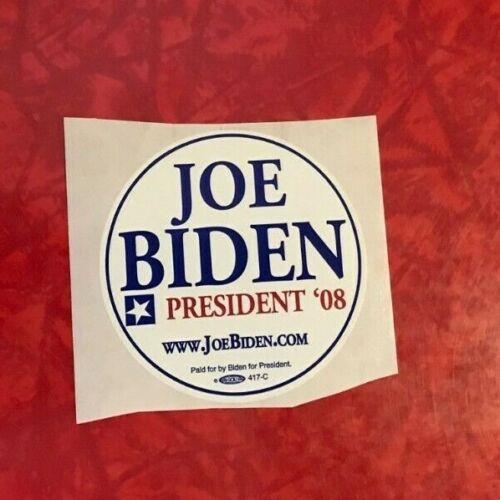 "2008 JOE BIDEN for PRESIDENT unused 2.75/"" LAPEL STICKER"