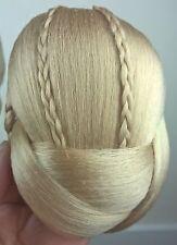 honey blonde fake pony tail clip sew on braid plait bun hair extension updo
