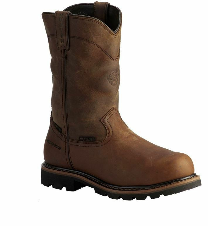 Justin Men's Wyoming Waterproof Internal Met Guard Pull-On Work Boots WK4630