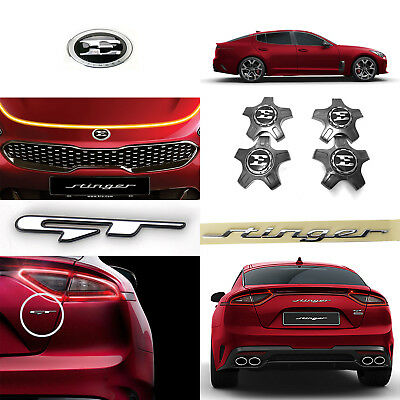 for Stinger 17~18 Kia Genuine OEM Front /& Rear Emblem//19 Center Wheel Cap Set Total 6 pcs