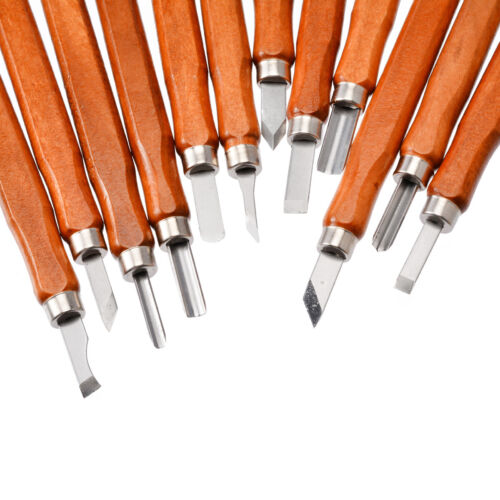 12 Teile Schnitzwerkzeug-Satz Schnitzsatz Schnitzmesser Messer Holz-Schnitzen