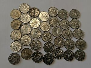 35-LOT-CANADA-FIVE-CENTS-COINS-1945-amp-MORE
