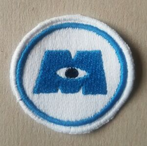 7cm Custom Unofficial Monsters Inc. Logo Embroidered Sew On Patch.