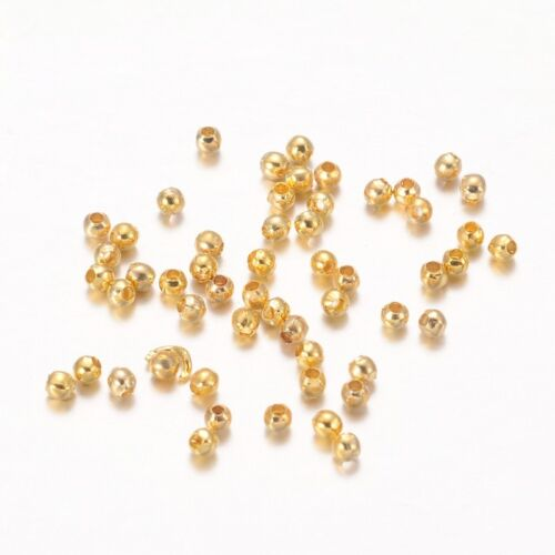 Pack von 400 Runde Perlen Abstandshalter 2mm Metall Golden Schmuck Kreation