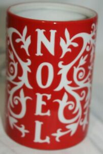Scentsy Christmas  Warmer Red Noel Holiday Paisley Floral Ceramic Discontinued