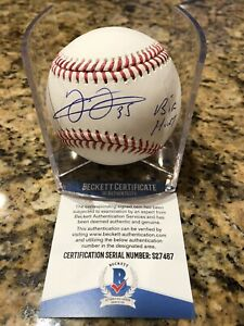 Frank-Thomas-Autographed-Official-MLB-Baseball-Beckett-COA-W-Inscription-amp-Cube