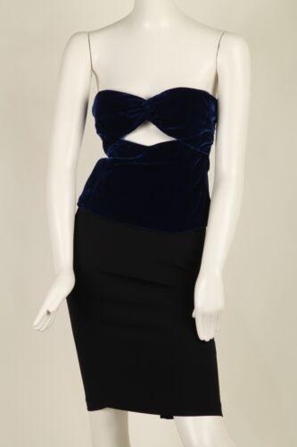 Vintage Blue Velvet Bustier Versus by Versace