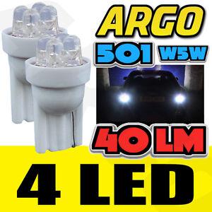 4-LED-XENON-WEIss-Quad-501-T10-W5W-Standlichtleuchten-Citroen-Crosser-C-Crosser