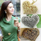 Retro Hollow Flowers Carved Peach Heart Fashion Necklaces For Womens Necessities